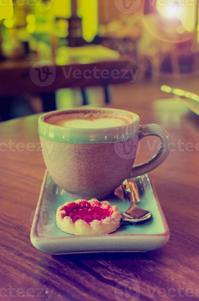 taza de café en cafetería foto
