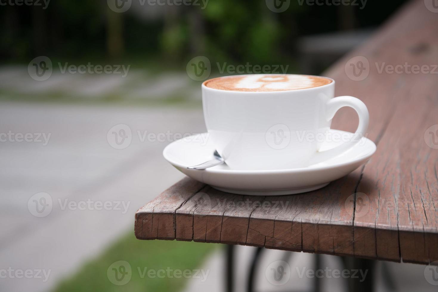 café con leche arte en cafetería foto