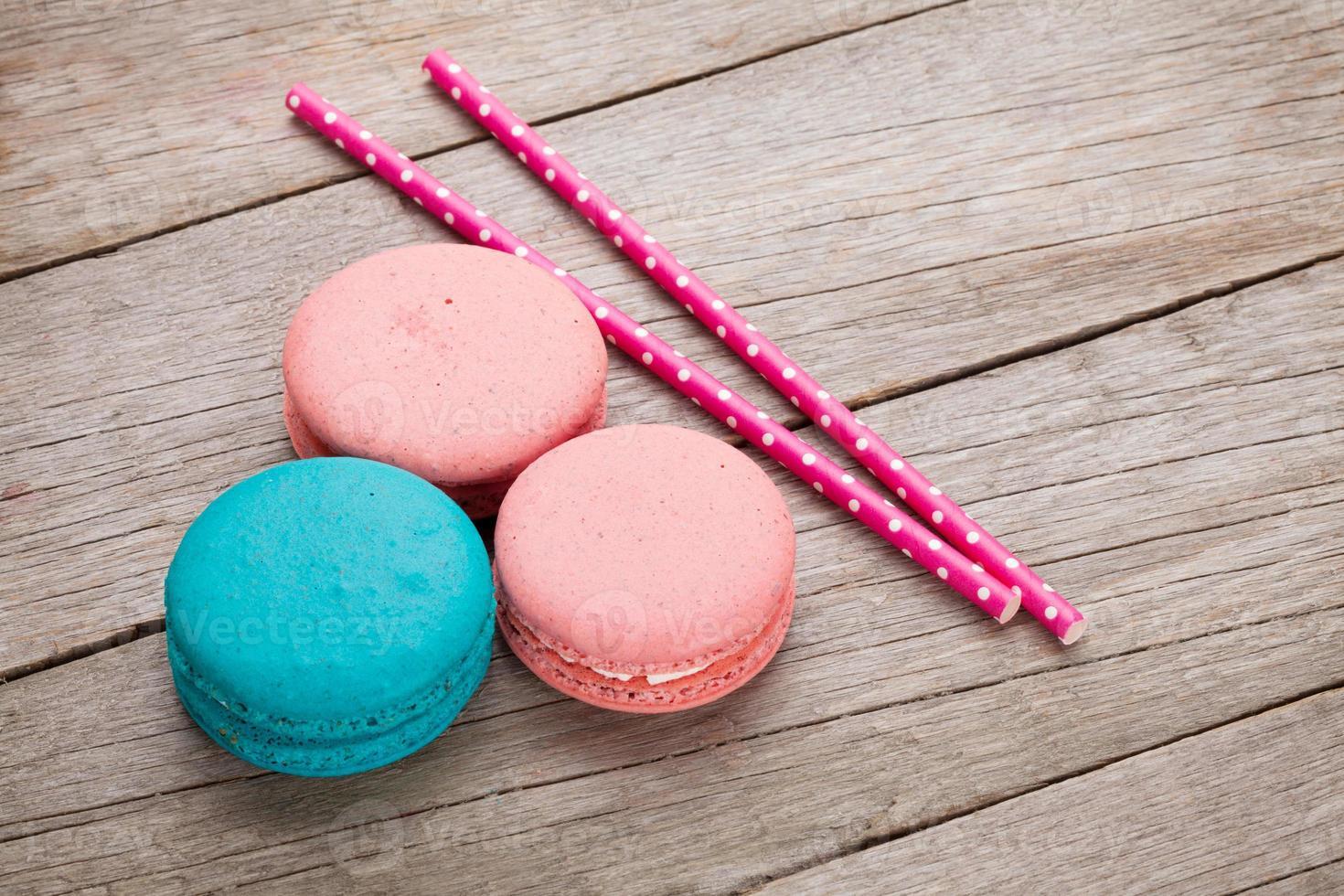 galletas macaron de colores foto
