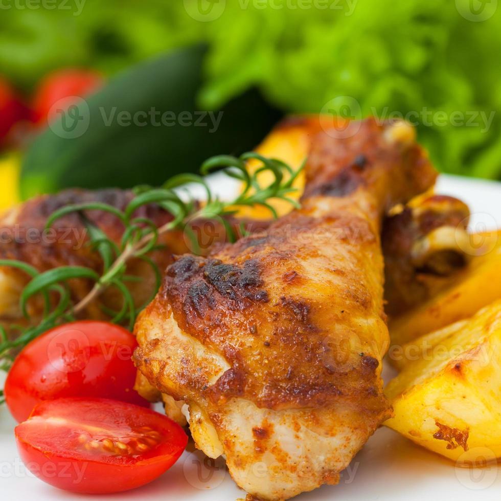 Fried chicken legs photo