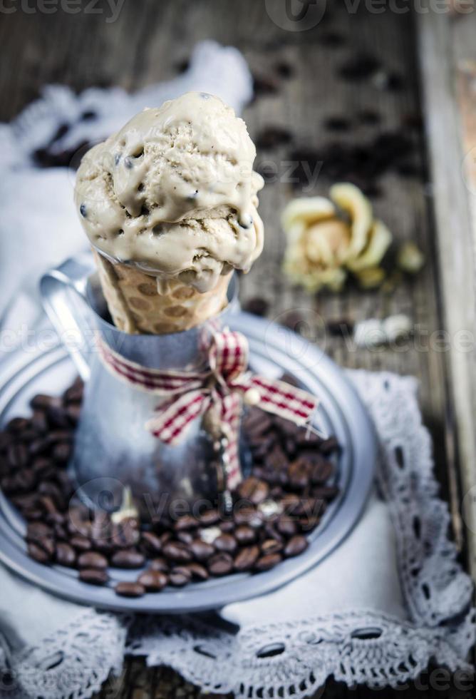 Coffee ice cream photo