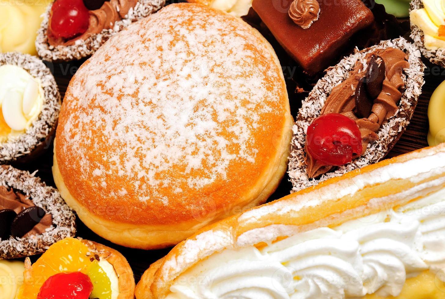 Many cakes and donat photo