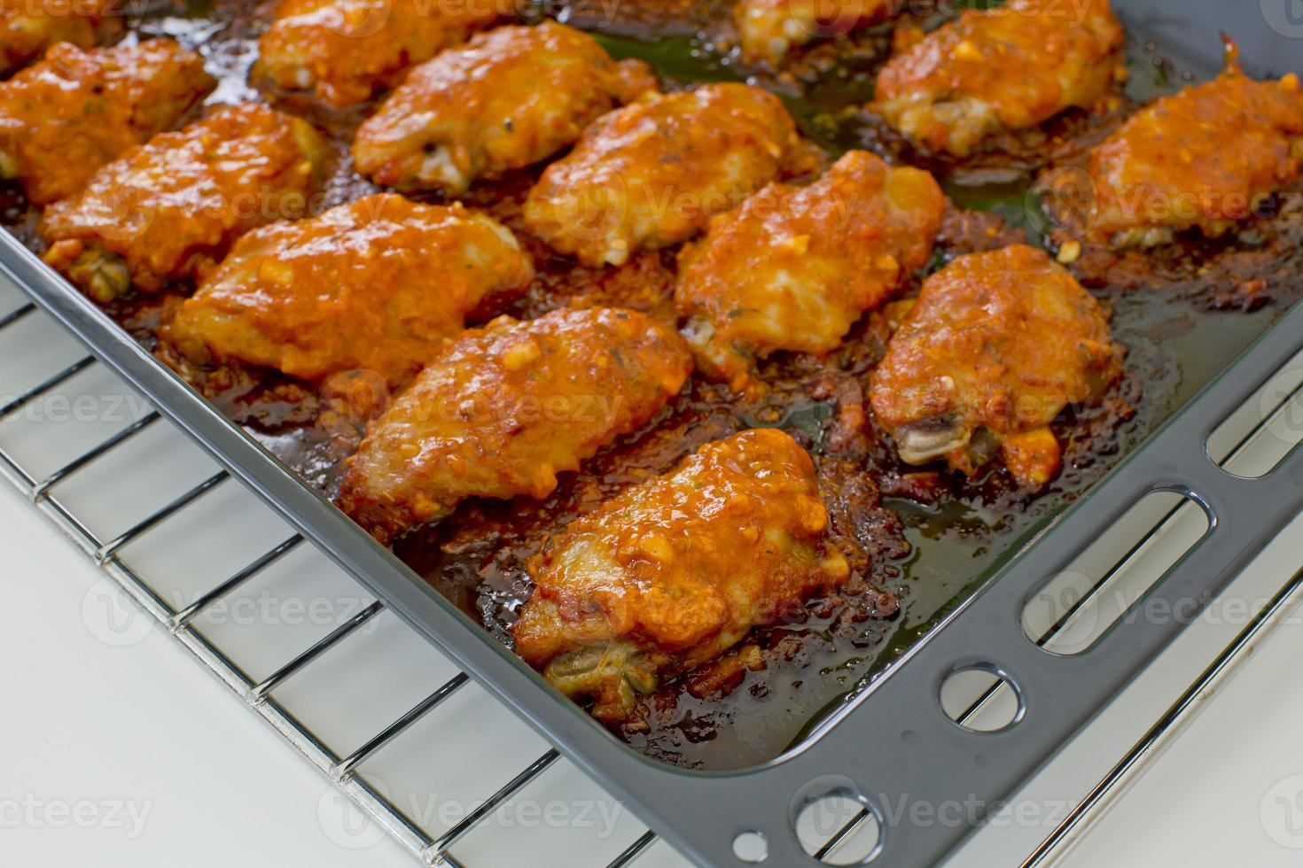 Fried Chicken New Orleans.sweet and spicy on tray ready photo