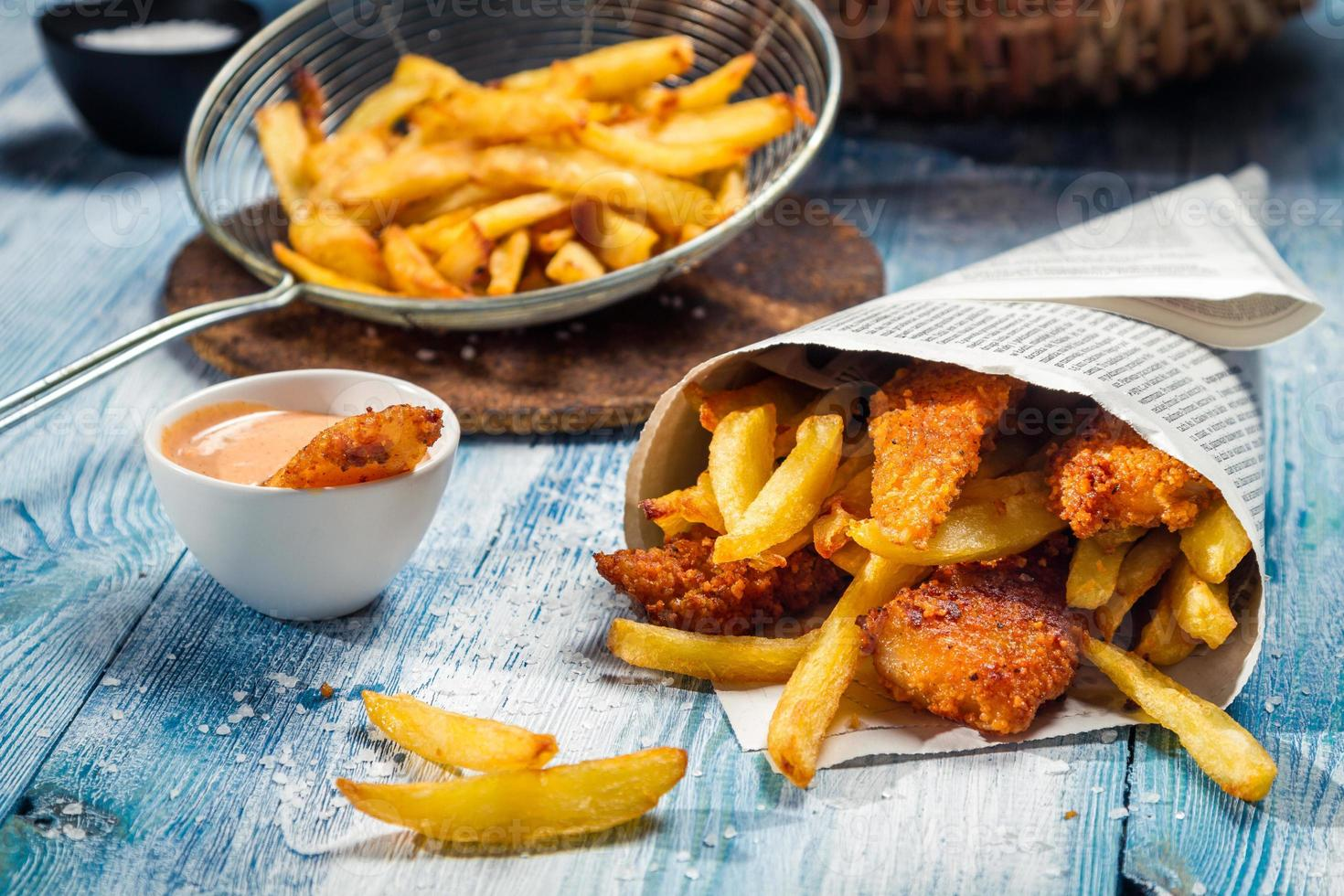 Fish & Chips served in the newspaper photo