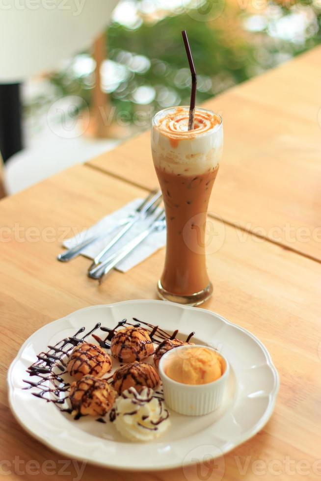 Ice coffee caramel photo