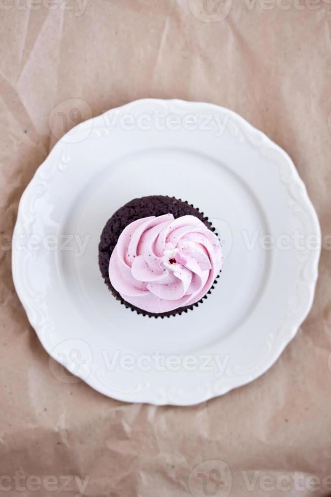 pastel de chocolate rosa foto