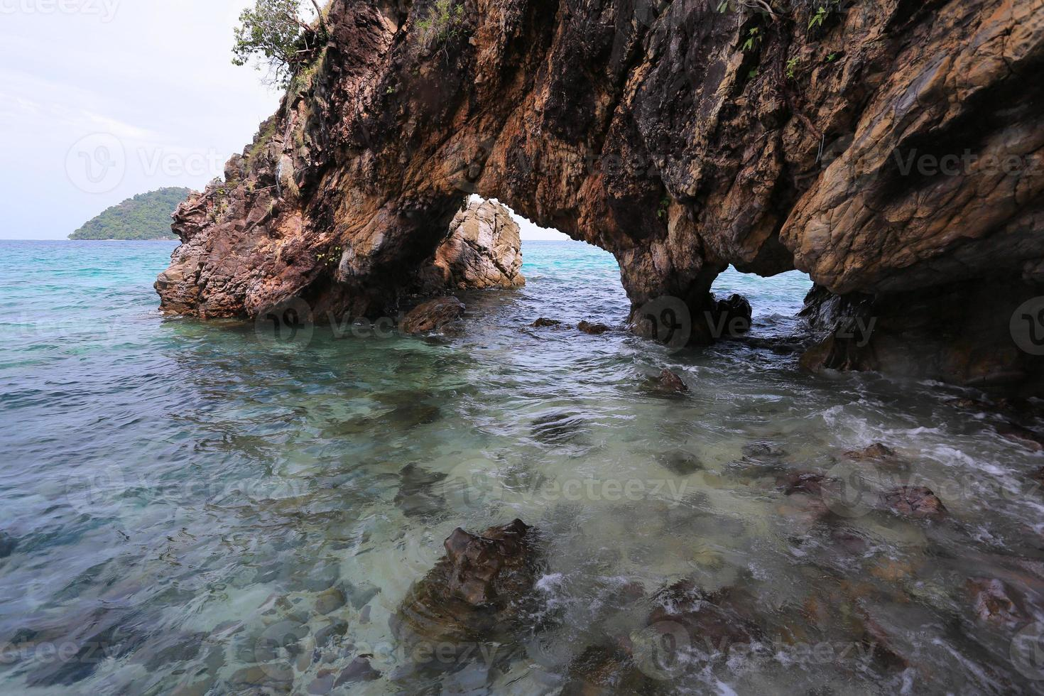 Lover Gate, Natural Stone Arch, Khai island, Satun, Thailand photo