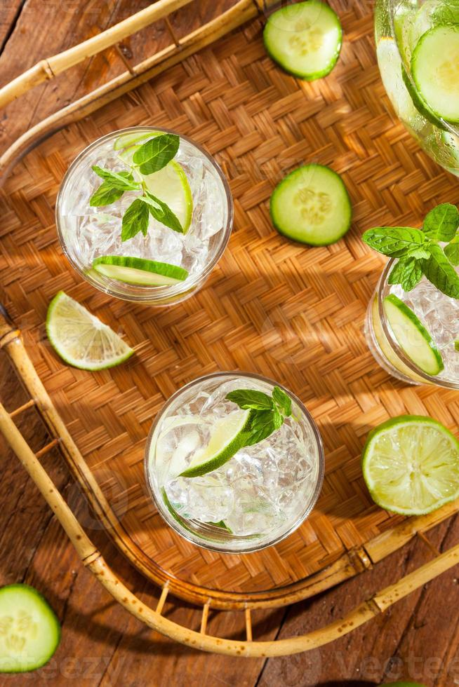 Refreshing Ice Water with Lime photo