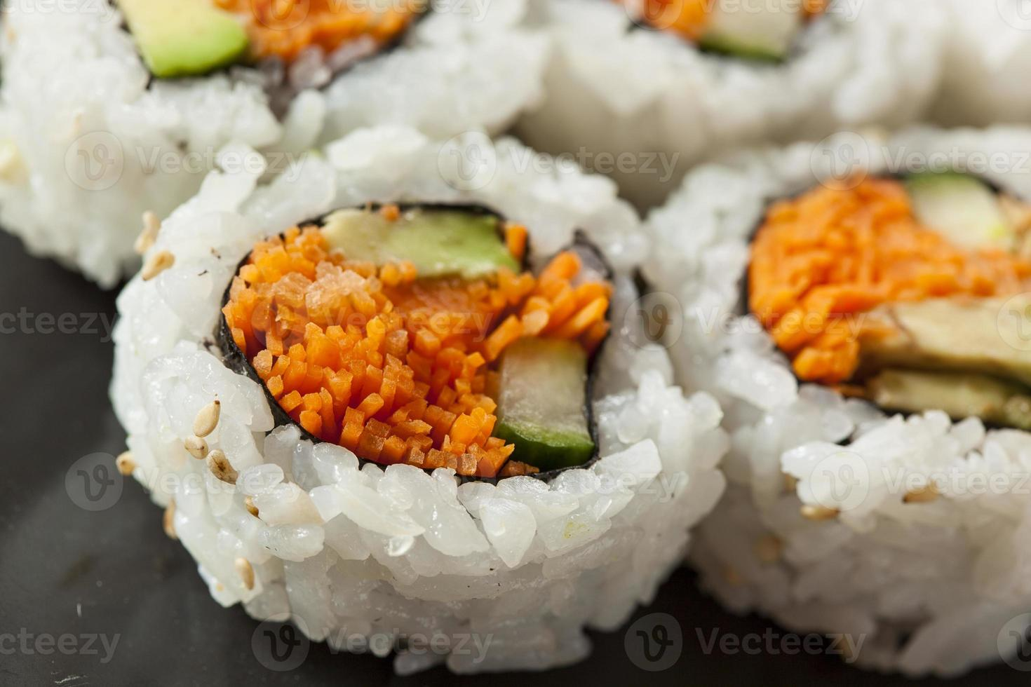 Healthy Japanese Vegetable Maki Sushi Roll photo