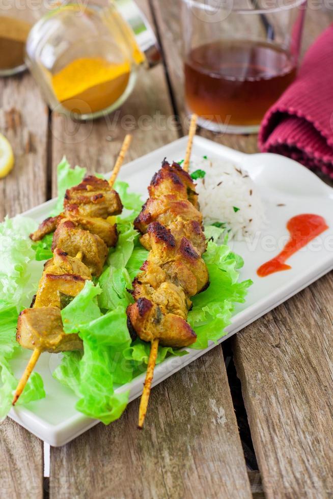 Chicken kebab photo