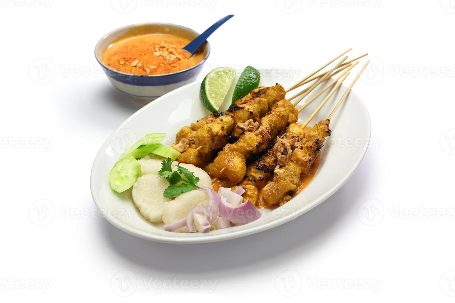 pollo satay, cocina indonesia foto