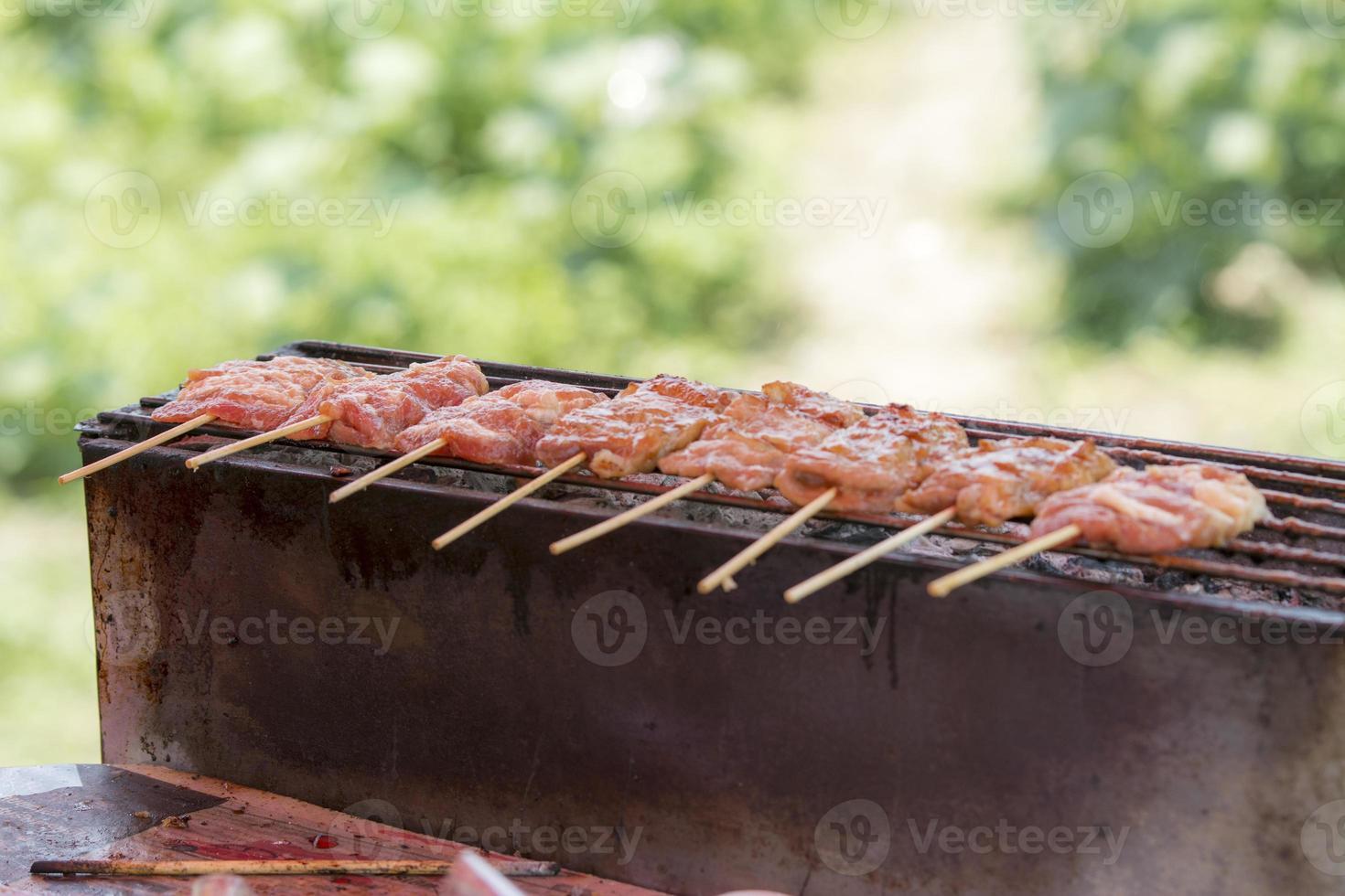 tienda de carne de cerdo foto
