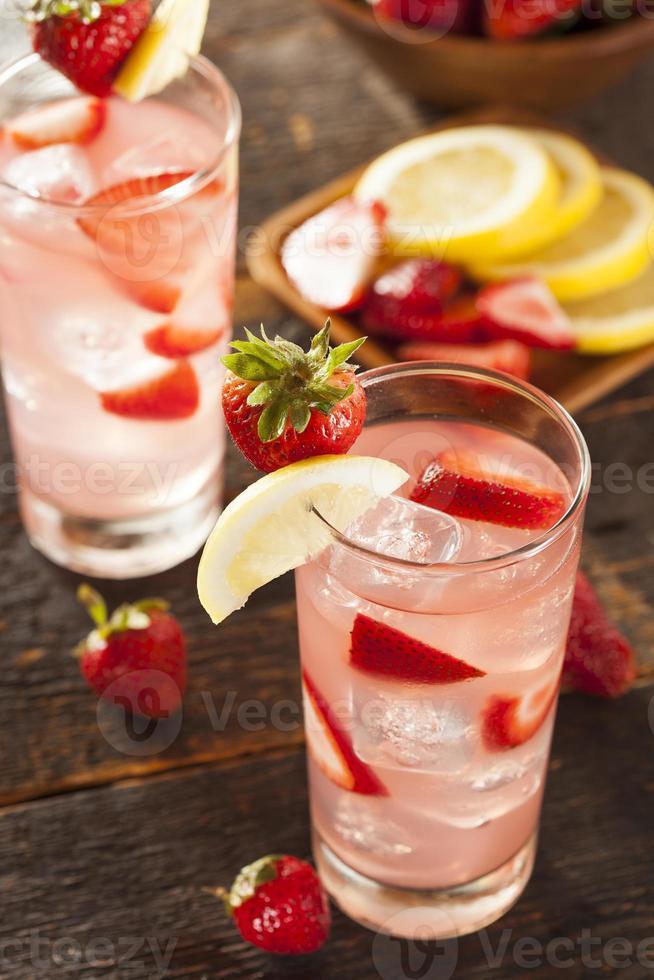 Refreshing Ice Cold Strawberry Lemonade photo