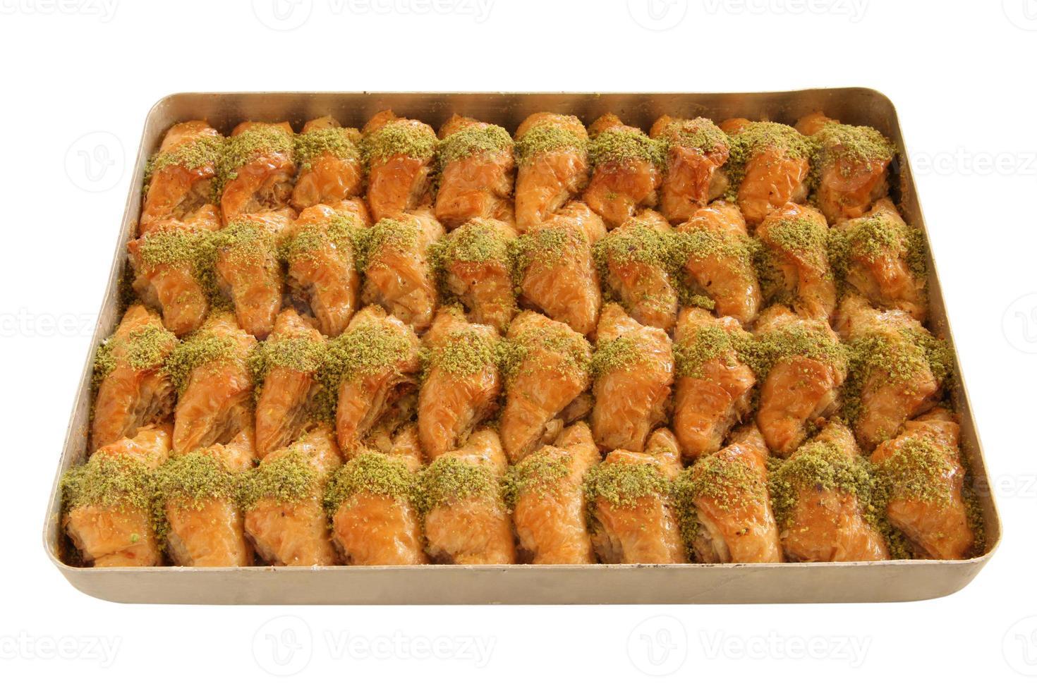 baklava de postre turco foto