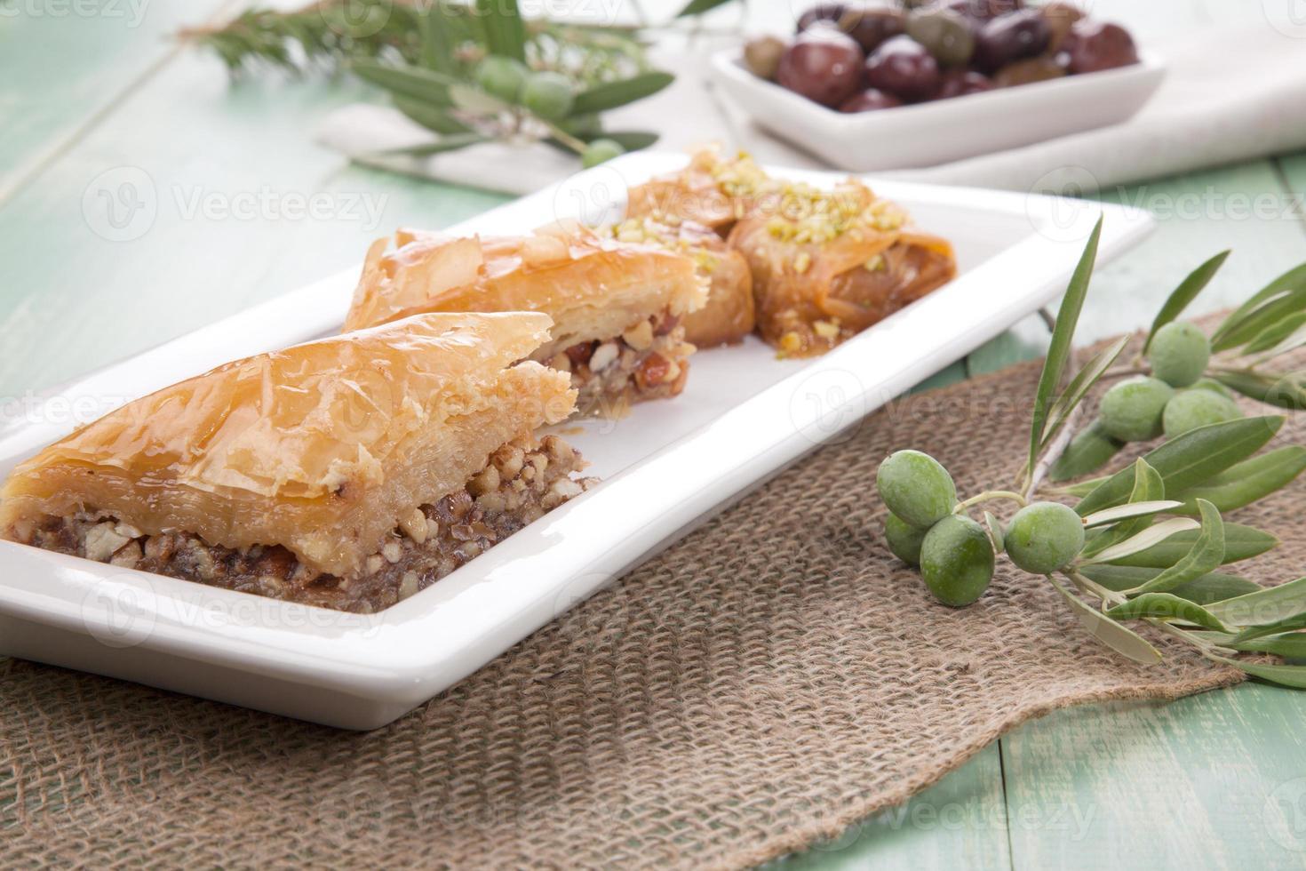 Baklava - Mediterranean sweets photo