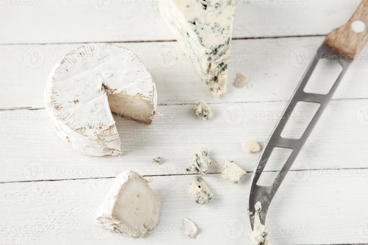 queso azul y cabra foto