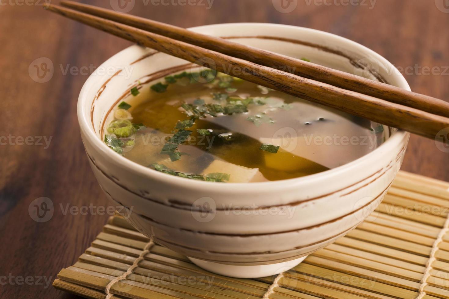 Japanese miso soup photo