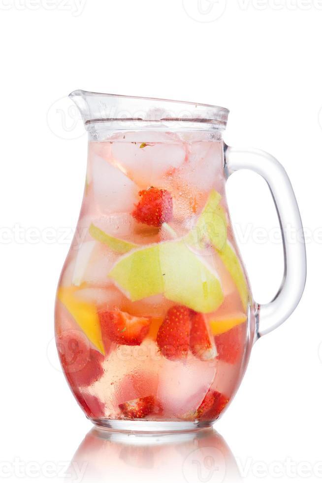 jarra de agua de desintoxicación foto