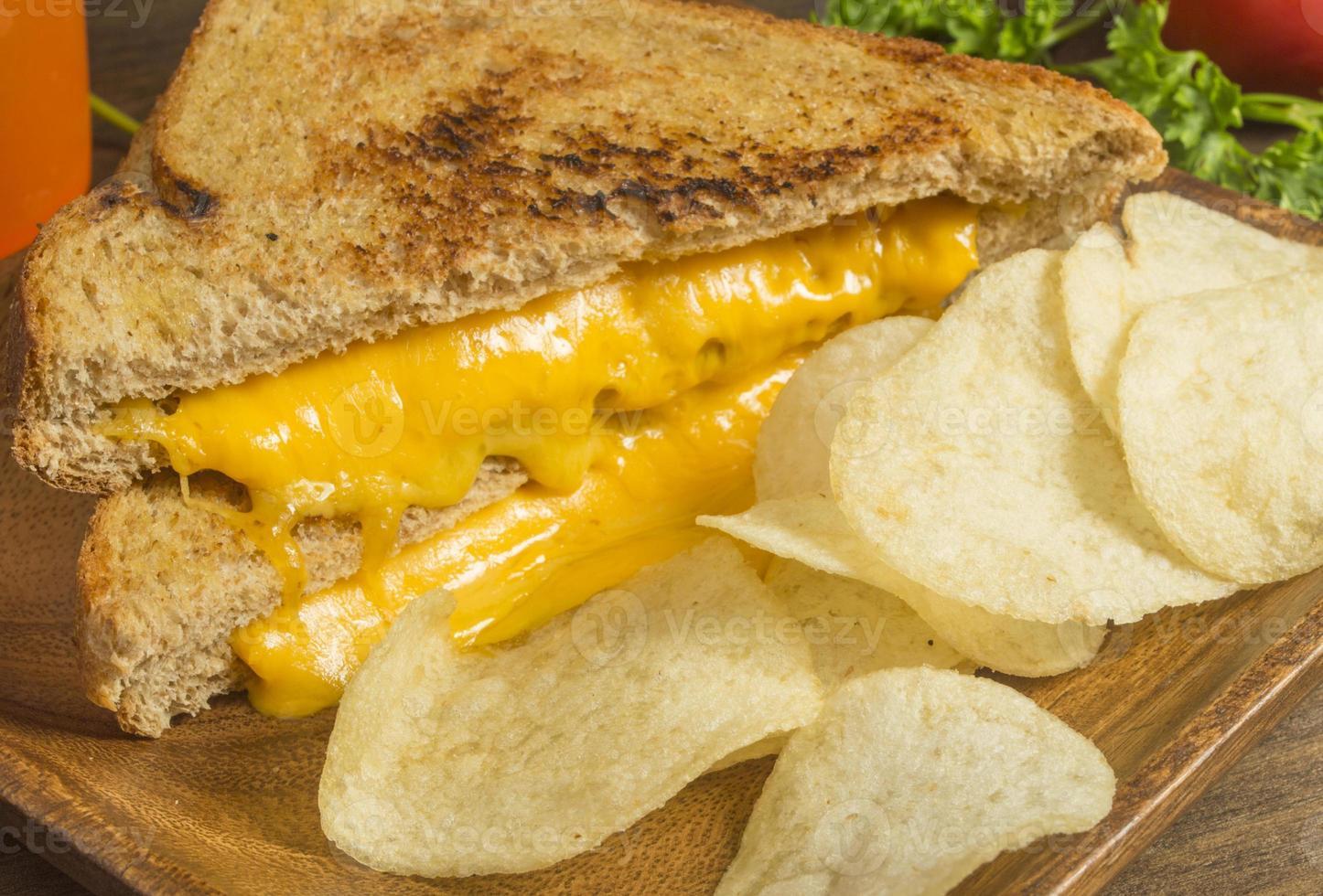 sándwich de queso chedder a la parrilla foto