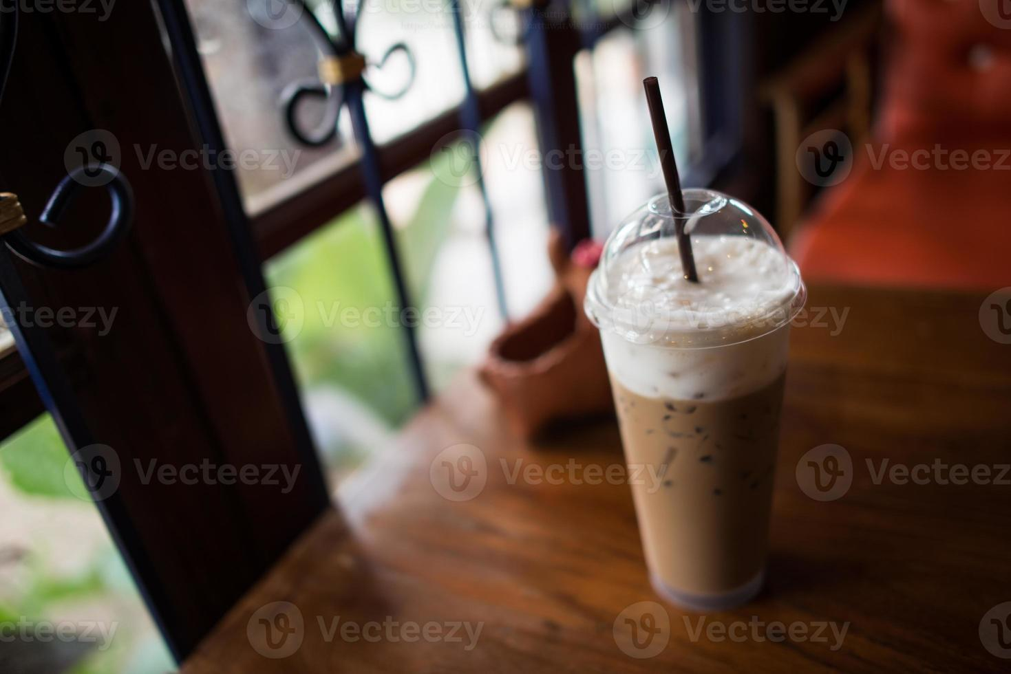 café con leche helado foto