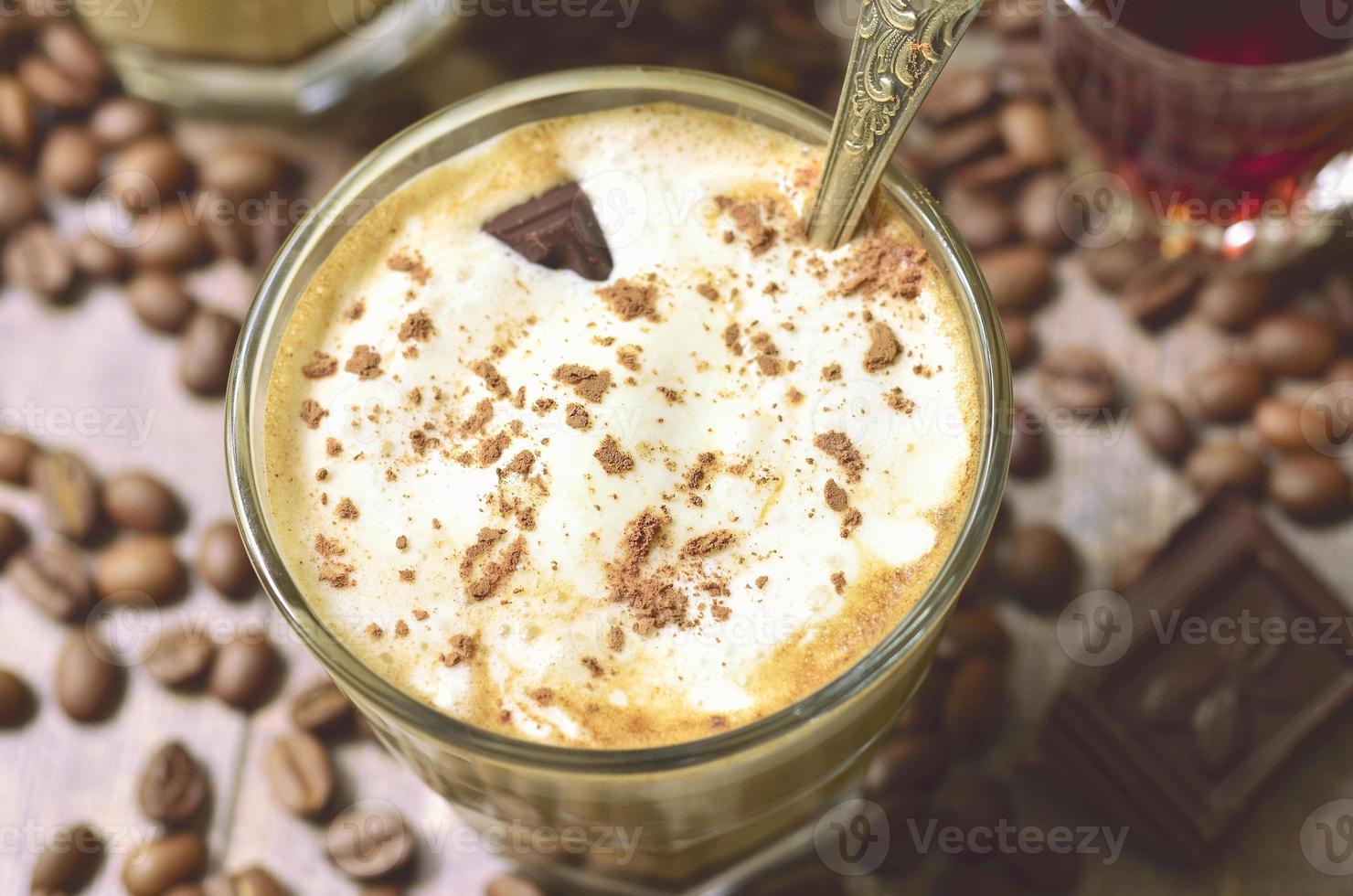 affogato - postre italiano de café. foto