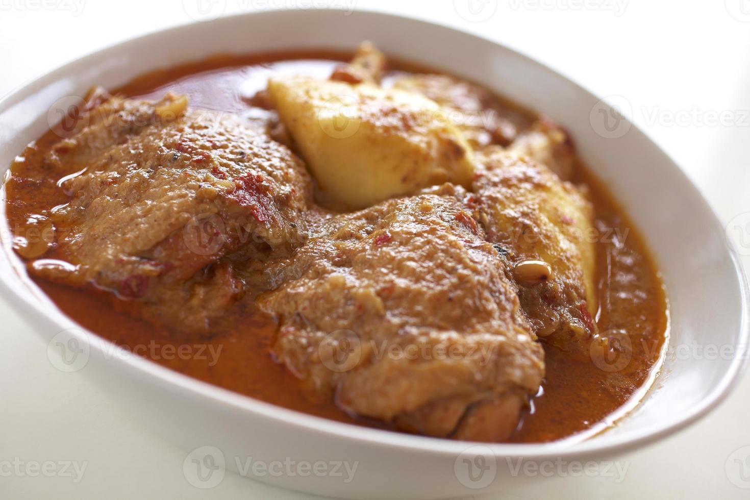 pollo al curry rojo foto
