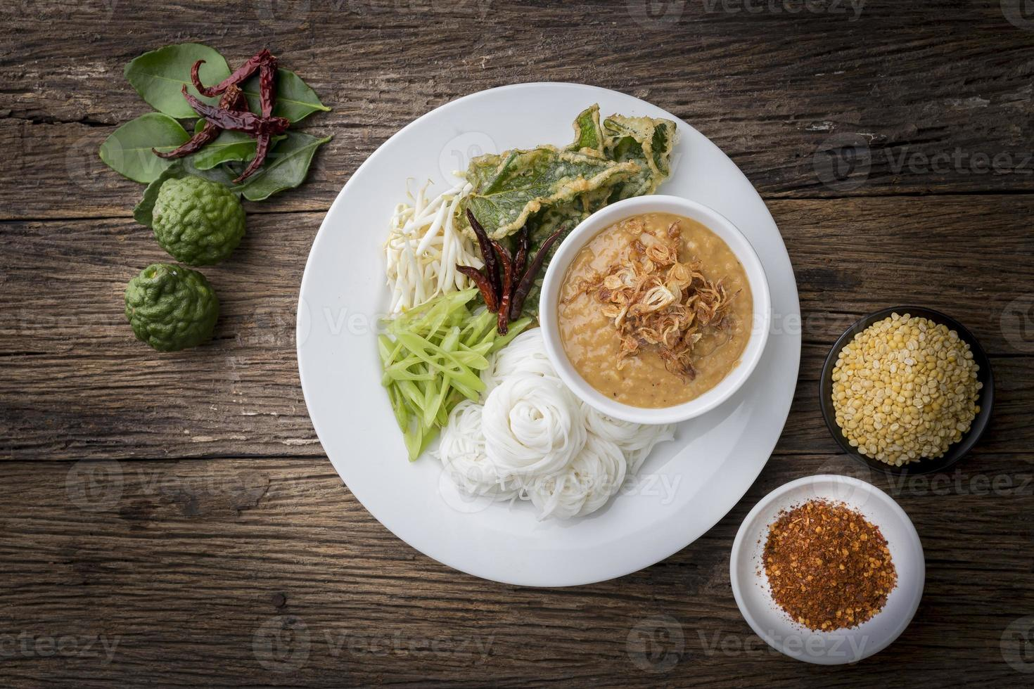 ermented Rice Flour Noodles /kanomjeen photo