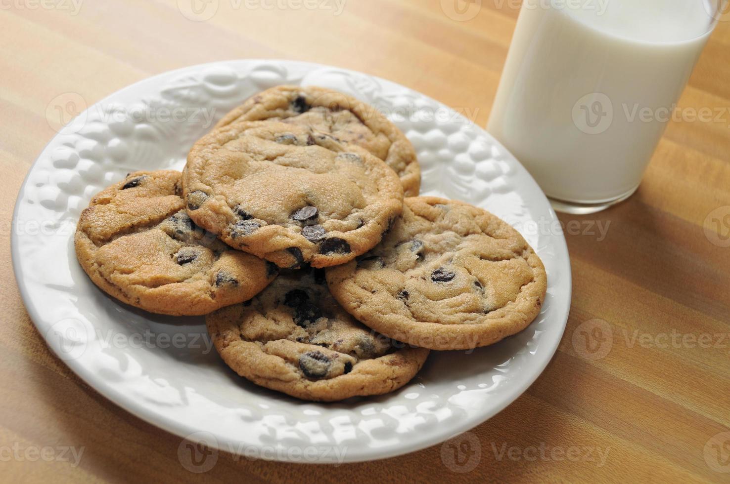 galletas y leche foto