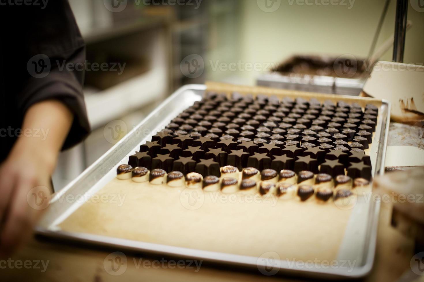 producción de chocolate foto