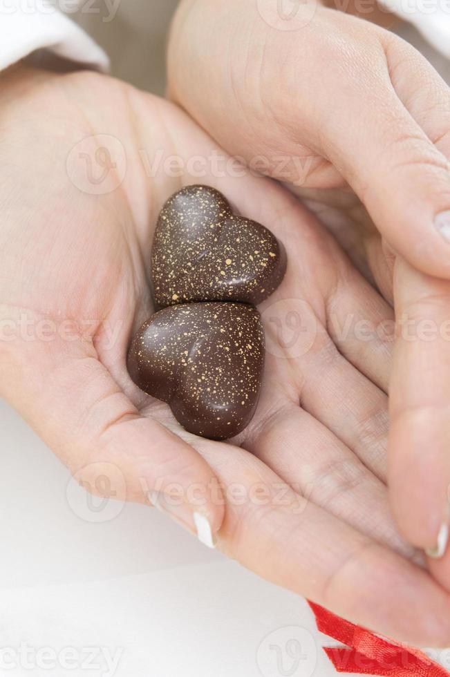 corazón de chocolate foto