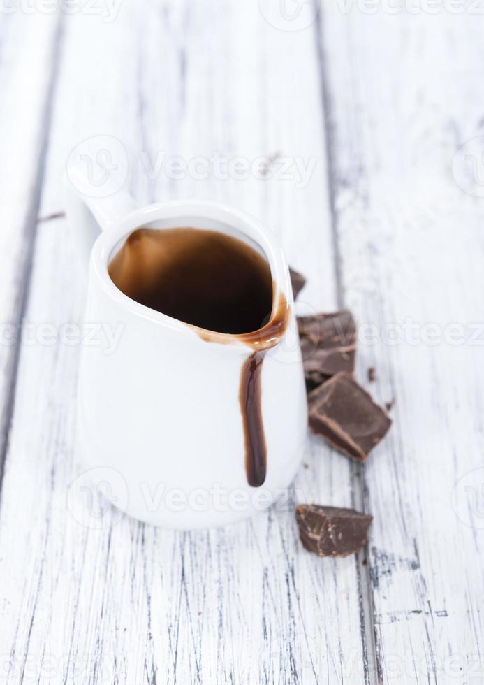 salsa de postre (chocolate) foto
