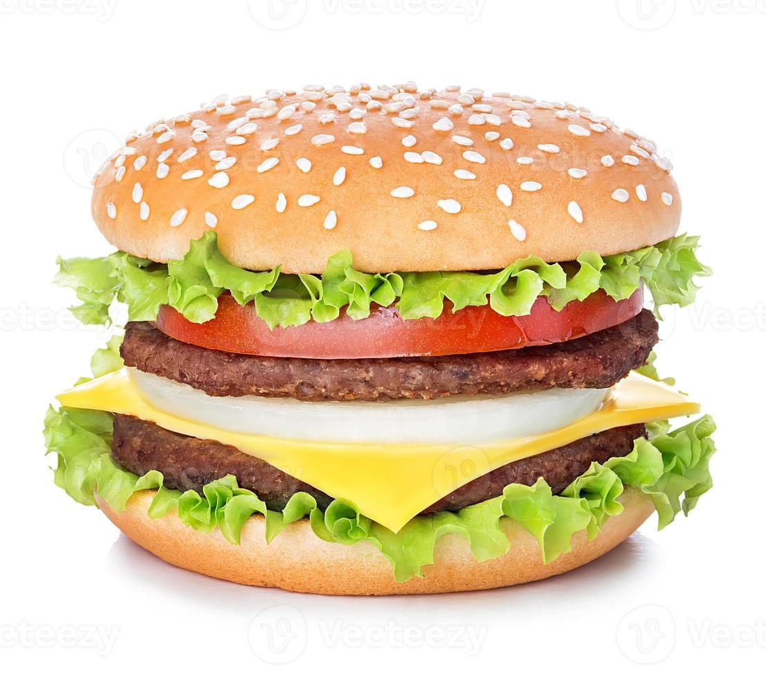 hamburguesa aislado sobre fondo blanco foto