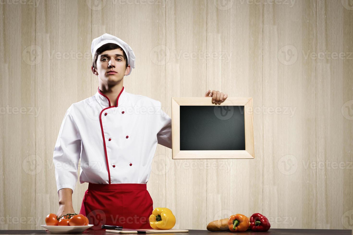 joven cocinero foto