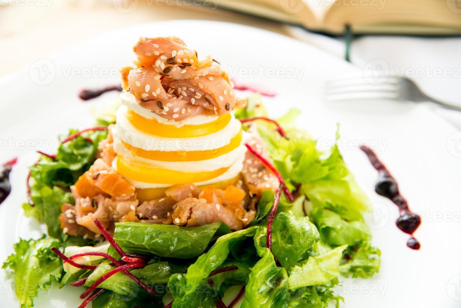 Smoked salmon salad photo