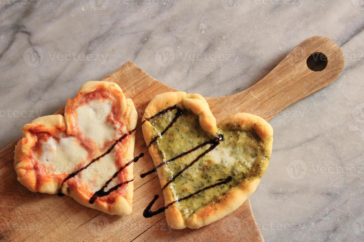Heart-Shaped Pizzas photo