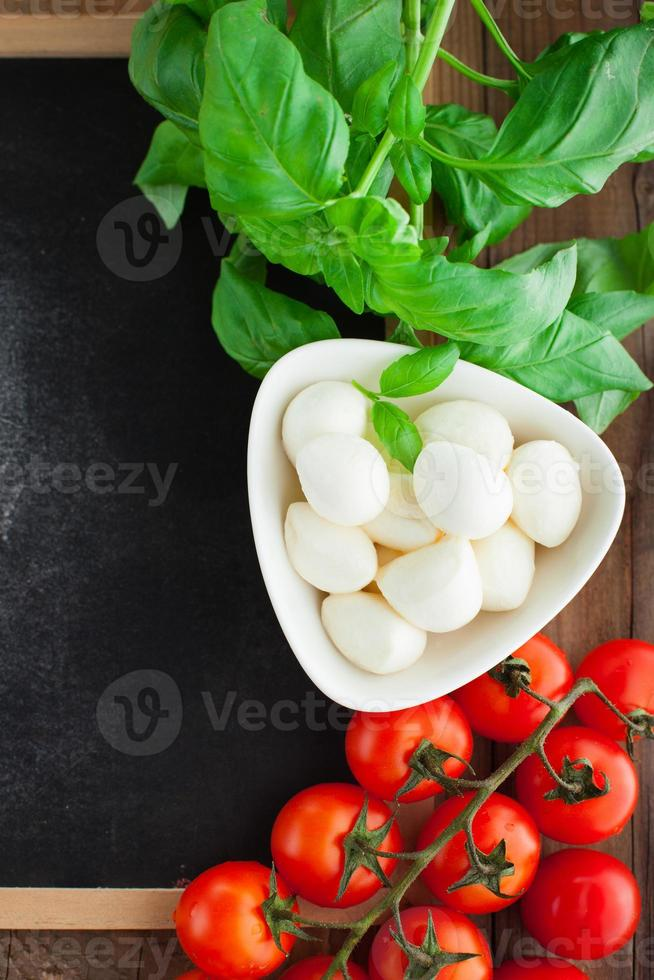 Italian food background photo