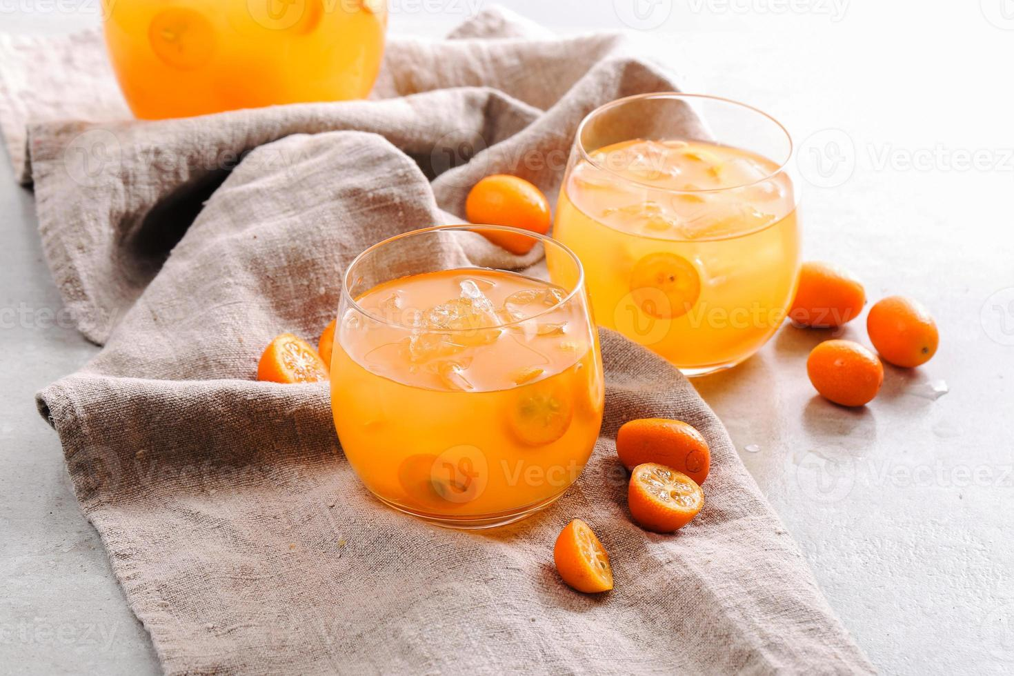 Mandarin juice photo