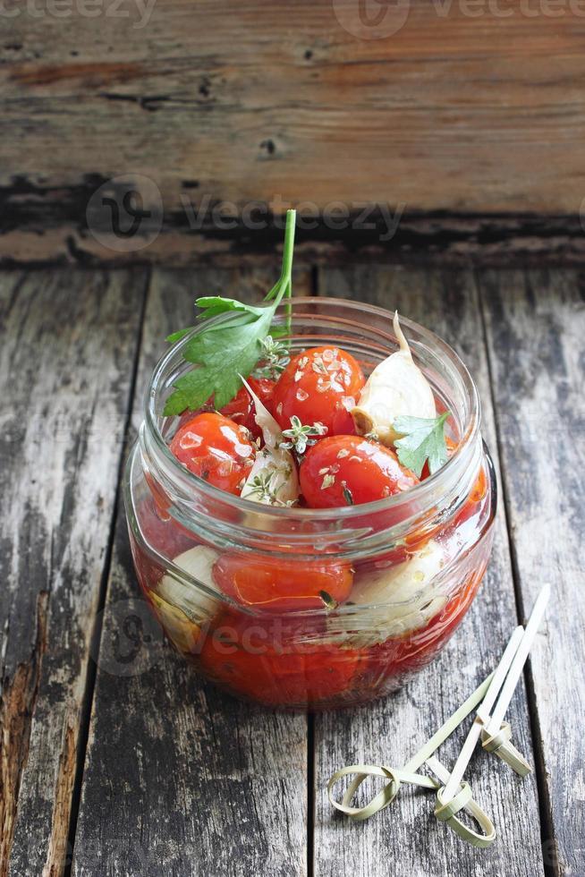 tomates horneados foto