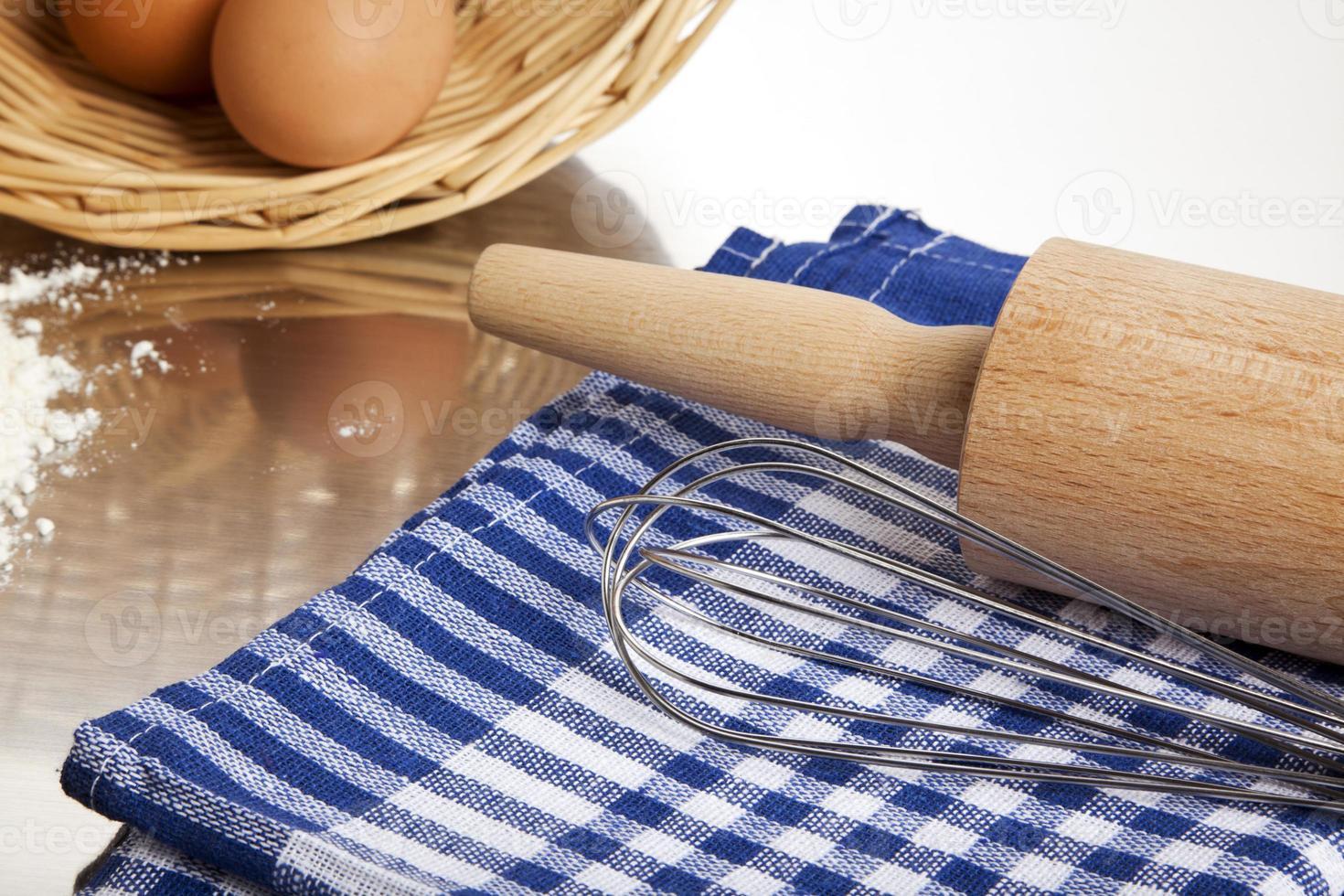 utensilios para hornear foto
