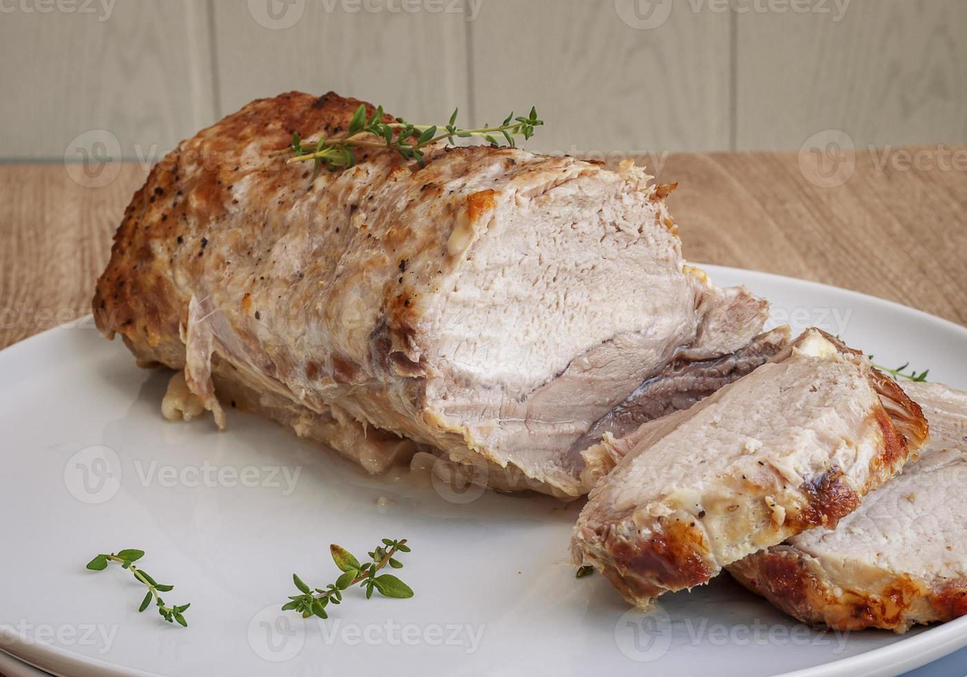 carne de cerdo al horno foto