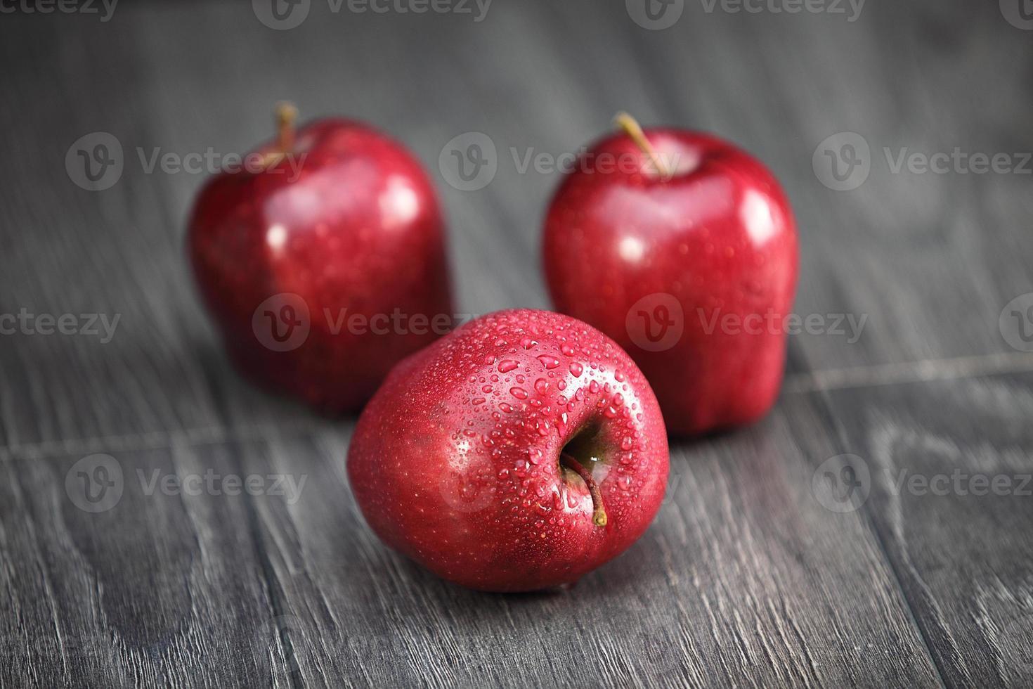 Crispy red apples photo