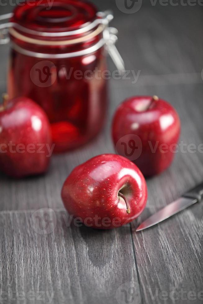 crujientes manzanas rojas foto