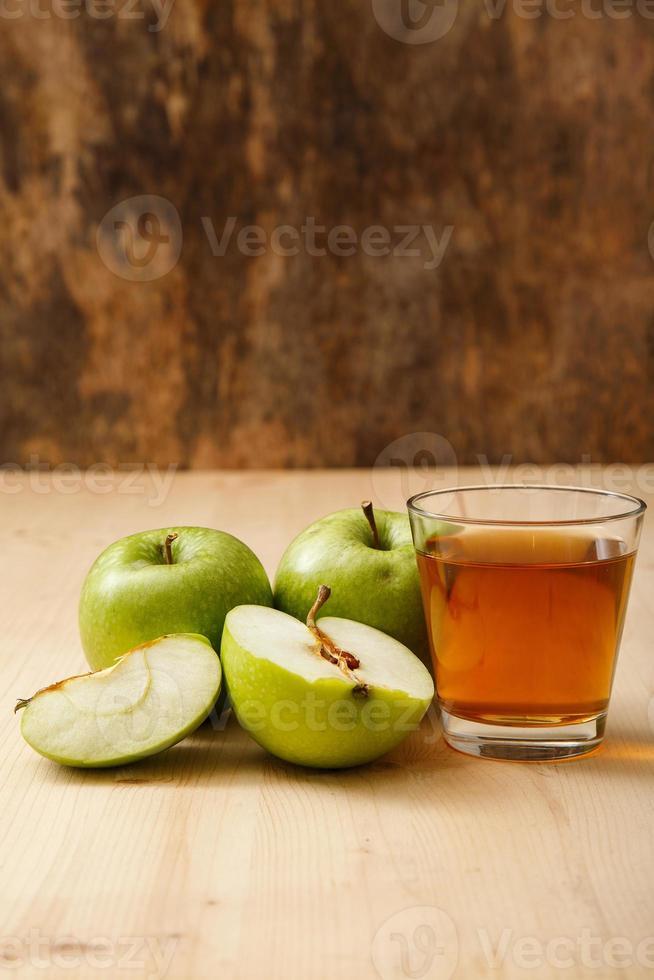 Glass of apple juice photo