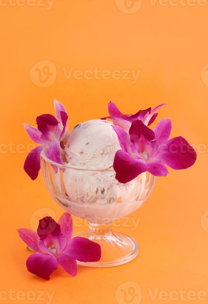 sobremesa de sorvete foto