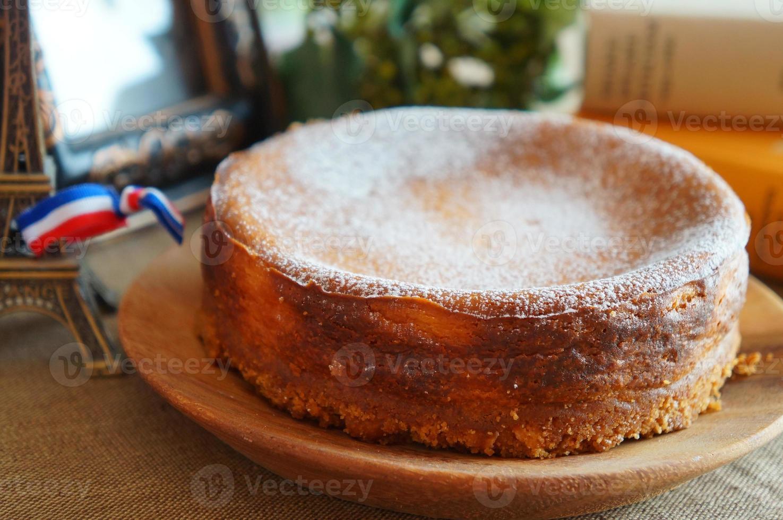 tarta de queso al horno foto