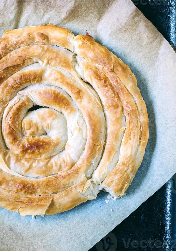 pastel de queso al horno foto