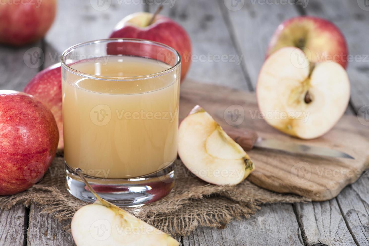 jugo de manzana foto