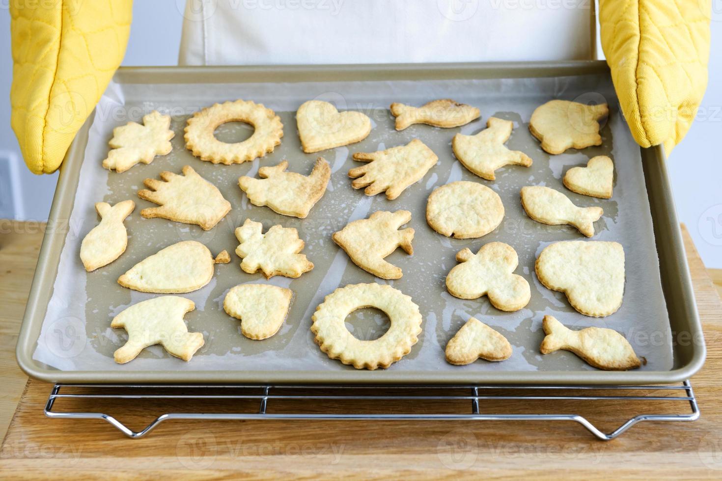 galletas recién horneadas foto