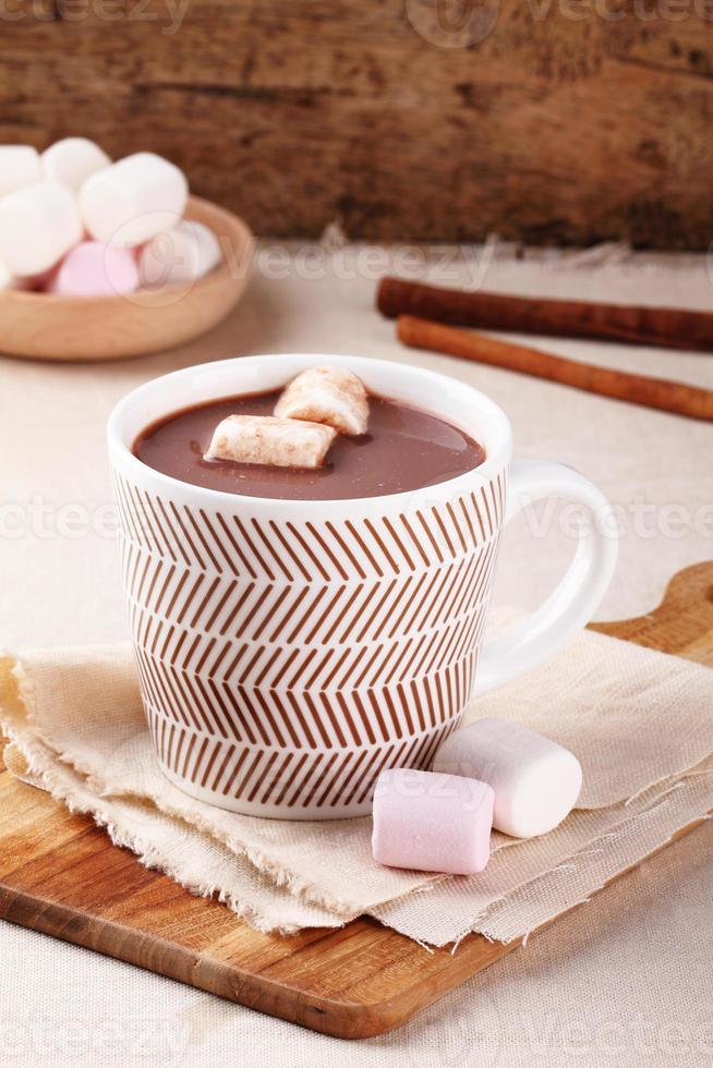 bebida de chocolate caliente foto