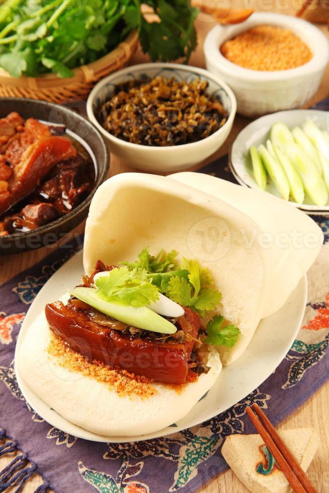 gua bao (sándwich al vapor) foto
